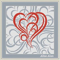 Cross Stitch Pattern Hearts on hearts background от HallStitch