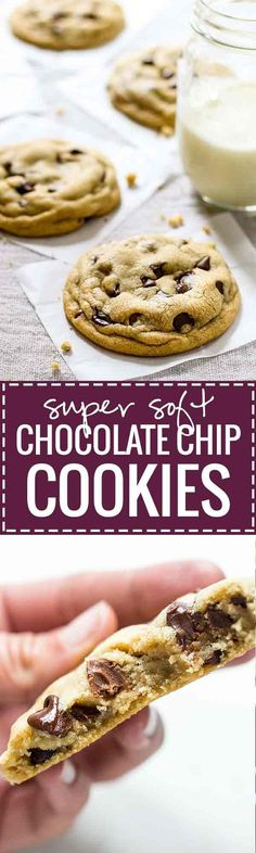 The BEST Soft Chocolate Chip Cookies - no overnight chilling, no strange ingredients, just a simple recipe for ultra SOFT, THICK chocolate chip cookies! | pinchofyum.com