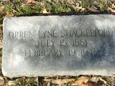 Orren Lyne Shackleford (15 Jul 1881 - 19 Feb 1949) Elmwood Cemetery, Norfolk- Find A Grave Memorial