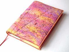 Notebook, Sketchbook, Journal, Diary Cover, A5, Handmade Felt, 'Sunset' £35.00