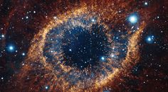 The Helix Nebula in the Aquarius constellation, located some 700 light-years away from Earth, was just observed by the piercing infrared gaze of the VISTA telescope at the Paranal Observatory in Chile. Some have referred to the images as the Eye of Sauron, from JRR Tolkien's Lord of the Rings.