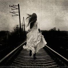 Image result for girl running away