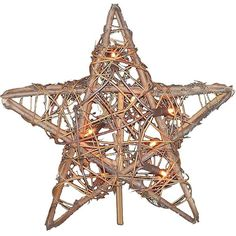 Rattan Star Christmas Tree Topper ($15) ❤ liked on Polyvore