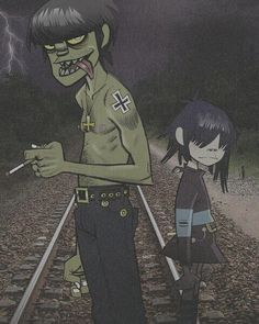 Noodle with one of her dads