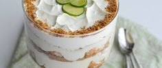 Layers of white chocolate, granola bars, angel food cake and key lime-cream filling create a chilled treat that's utterly refreshing on a warm summer afternoon.