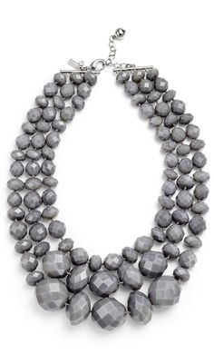 Necklace in gray