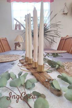Candlestick Centerpiece, Table Centerpieces, Candlesticks, Candleholders, Handmade Shop, Handmade Gifts, Cottage Chic, Bohemian Decor, Art Deco Fashion