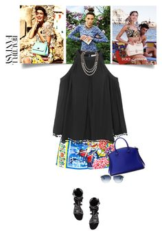 """Sundays - 23.08.15"" by matilda66 ❤ liked on Polyvore featuring Dolce&Gabbana, Topshop, Christian Dior, Yves Saint Laurent, VBH and Lanvin"