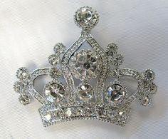 Crystal Princess Crown Pin Pendant