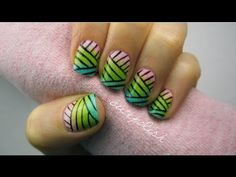Weaved Nail Art