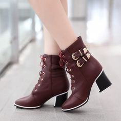 Fashion women boots for comfort and fit. A general use boot, perfect for everything from shopping to walking the dog. The boots is something which would always be in fashion no matter what is the latest fashion trend. Heel Height: 6 cm Platform Height: - cm Shaft Height: 14 cm Size Guide: Euro/CN 34 = US 3 = 22cm (Foot width=8-8.5cm) Euro/CN 35 = US 4 = 22.5cm (Foot width=8.5cm) Euro/CN 36 = US 5 = 23cm (Foot width=8.5-9cm Euro/CN 37 = US 6 = 23.5cm (Foot width=9cm) Euro/CN 38 = US 7 = 24m…