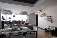 Arrecife ,in place Decor, Furniture, Glass Art, Room, Ceiling Lights, Table, Home Decor, Conference Room Table, Chandelier