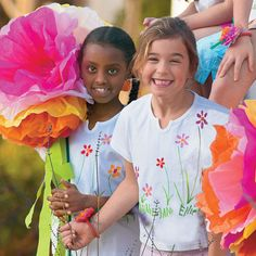 View all Giant Tissue Paper Flowers Create Giant Tissue Paper Flowers with this fun craft.
