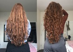 For all natural curlies, coilies, and wavies! Find help with your hair, recommendations on products, technique advice. anything to help tame. Wavy Hair Care, Curly Hair Tips, Long Wavy Hair, Long Hair Cuts, Curly Hair Styles, Haircuts For Wavy Hair, Girl Haircuts, Cabelo Ombre Hair, Curly Hair Overnight