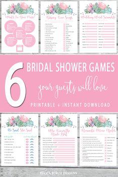 Printable Bridal Shower Checklist  Mountain Theme Boho