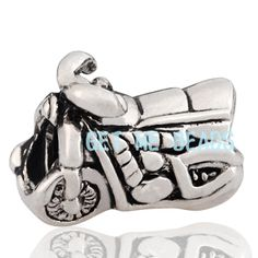 Sterling Silver 925 Motorcycle Charm Bead [S083-B] - $18.00 : Get Me Beads!, Get Affordable Beads