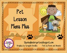 Pet unit with lesson plans, 5 art activities, reader, and math word problem game.