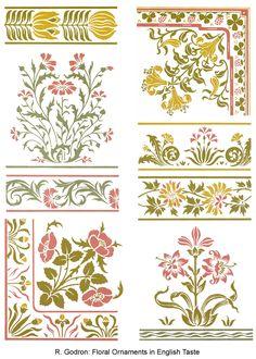 Dover Design Sampler - Full-Color Art Nouveau Designs And Motifs Stencil Patterns, Textile Patterns, Textile Prints, Art Prints, Textiles, Motif Design, Textile Design, Pattern Design, Print Design