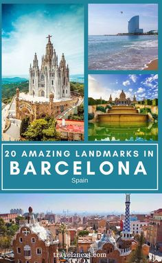 20 Incredible Landmarks in Barcelona. The Catalan city of Barcelona is the perfect mix of white sandy beaches, old-meets-new architecture and stunning mountain scenery. #spain #traveltips #barcelona #travel #europe #spanish #vacation Spain Travel Guide, Europe Travel Tips, European Travel, Travel Guides, Travel Destinations, Trip To Europe, Barcelona Travel Guide, Winter Destinations, European Vacation