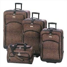 Leopard Print Luggage Set