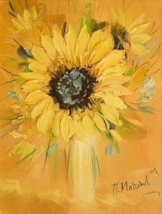 This painting is breathtaking by Pavel Mitkov Sunflower Art, Sunflower Wreaths, Pallet Art, Art Studies, Pastel, Mellow Yellow, Autumn Trees, Community Art, Beautiful Artwork