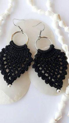 Pendientes de ganchillo crochet joyería joyería hecha a Crochet Earrings, Jewelry, Fashion, Hand Made, Jewlery, Moda, Jewels, La Mode, Jewerly