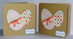 Set of 2 Handmade  'Happy Easter' Cards this by pollypurplehorse, £3.25