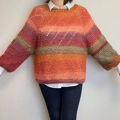 """Así ha quedado el jersey """"My Precious Sweater"""" de @katerina6795 que acabo de terminar. Lo he tejido con @KatiaYarns Paint en tonos tierra que me gustan bastante."""