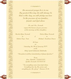 Chritian Wedding Invitation Templates