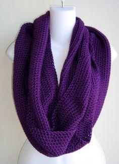 deep purple infinity loop scarf (from Etsy / Samantha)