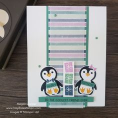 Penguin Birthday, Penguin Party, Kids Birthday Cards, Happy Birthday, Christmas Minis, Christmas Cards, Stampin Up, Turtle Party, Card Maker