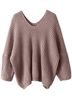 Shop Pink V Neck Drop Shoulder Oversized Sweater online. SheIn offers Pink  V Neck Drop Shoulder Oversized Sweater   more to fit your fashionable needs. c5cf7b3dae