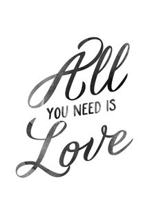 All You Need Is Love Art Print by Hopealittle   Society6