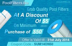 Avail A Discount of $5 On Buying Pool Filters Worth $50