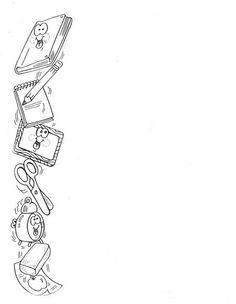 coloring pages - Maestros de Corazón Notas para enviar a casa (En blanco para editar e imprimir) Boarder Designs, Page Borders Design, Borders For Paper, Borders And Frames, English Creative Writing, English Posters, Kindergarten Portfolio, Cute Calendar, Watercolor Flower Background