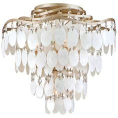 "Dolce Capiz Shell 16"" Wide Semiflush Ceiling Light"