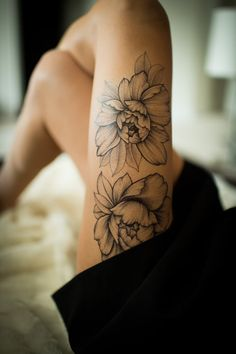 Two Flowers Temporary Tattoo by Sasha Masiuk