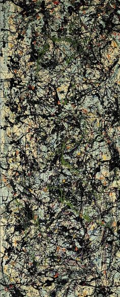 Jackson Pollock | Lucifer, 1947.  I'm not a Pollock fan, but I once again appreciate how it speaks of the culture of the time (to this day).  It's the commentary on culture--of its randomness and meaninglessness--which I do not share that causes me not to be a fan (but, once again, appreciative in a historical sense).