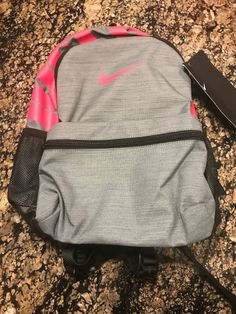 8fc342368ff Nike Classic Kid s Mini Backpack Grey Pink BA5559 065 New Book Bag  Nike   Backpack