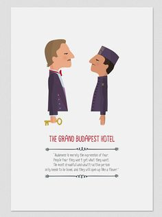 Illustration. The Grand Budapest Hotel. Wall art. by Tutticonfetti