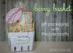 Midwestern Sewing Girl: berry basket gift packaging