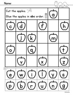 alphabet activities - Kindergarten Activity Pages