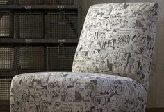 Home decor fabric with comic strip glamour by Andrew Martin