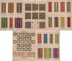 1925 Tablet Hand Weaving Book Patterns DIY Build Card Carton Loom Weave Inkle Table DiY