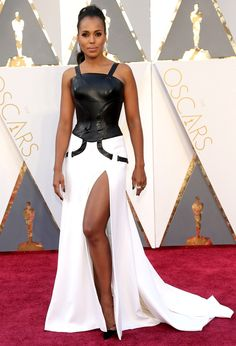 The Biggest Red-Carpet Risks From the 2016 Oscars | People - Kerry Washington in Atelier Versace