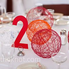 String balls in pastel colours