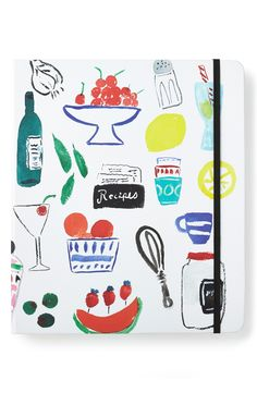 Keeping favorite recipes organized in this cute and functional Kate Spade book set up for recipes inside, along with category tabs for easy reference.