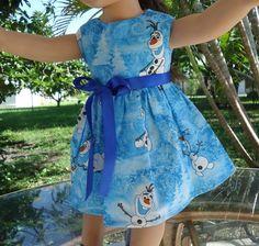 American Girl Dolls-Handmade-Olaf Dress. #HANDMADE