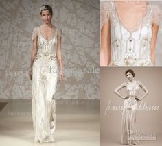 Oh so pretty & comes in Champagne too! Wholesale A-Line Wedding Dresses - Buy 2013 Fall Jenny Packham Wedding Dresses Sexy Summer A-Line V Neck Beaded Sequins Floor Length Bridal Gown BO1397, $349.04 | DHgate