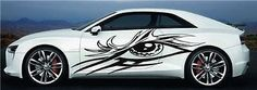 Eye Tribal CAR Vinyl for 2 Sides Graphics Decals Any Car 7824